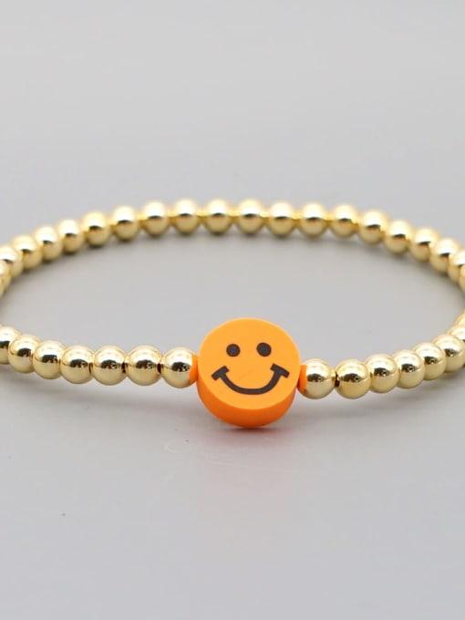 Roxi Stainless steel Polymer Clay Smiley Bohemia Beaded Bracelet 2