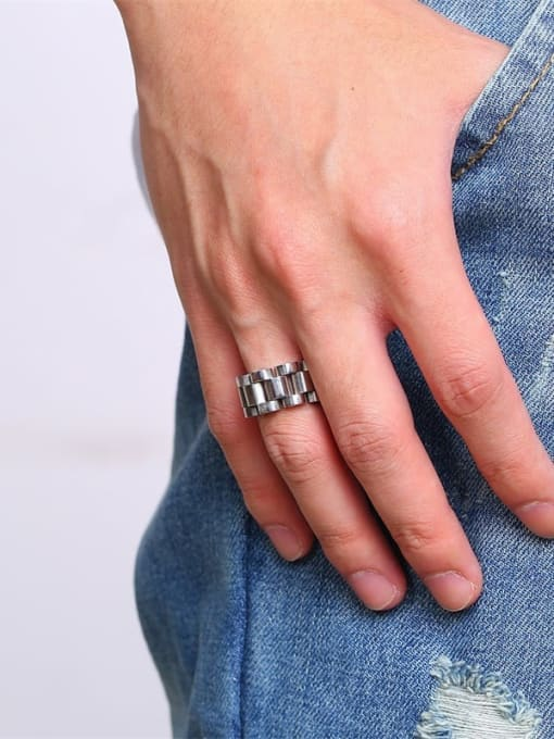 CONG Stainless steel Irregular Ethnic Band Ring 1