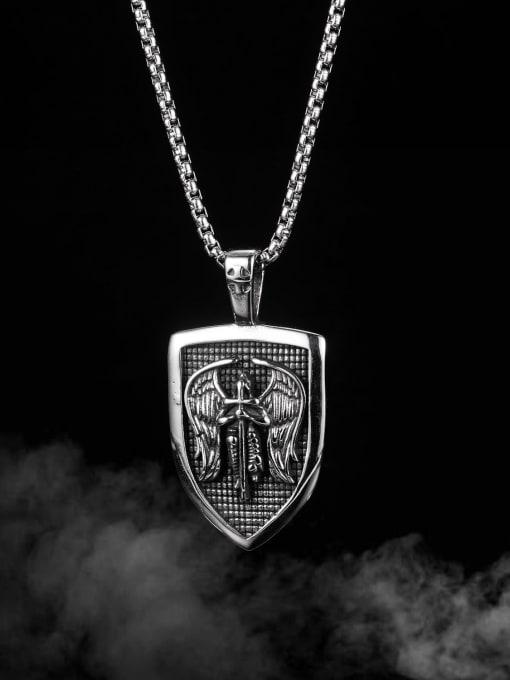 Open Sky Titanium Steel Cross Hip Hop Necklace 2