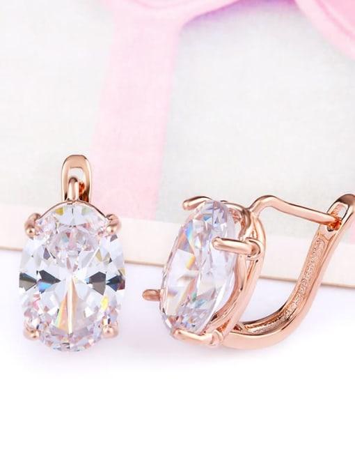 CC Alloy Glass Stone Rosary Bohemia Stud Earring 1