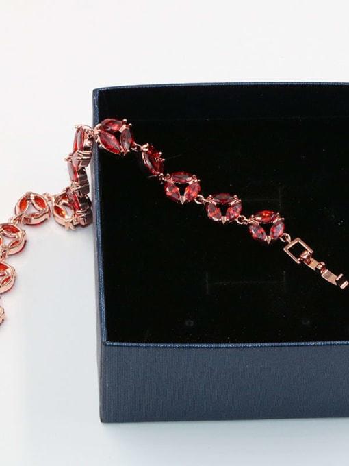 DUDU Brass Cubic Zirconia Geometric Dainty Bracelet 3