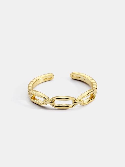 CHARME Brass Cubic Zirconia Geometric Vintage Band Ring 0