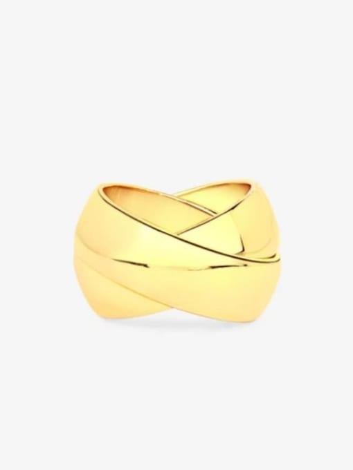 GROSE Titanium Steel Geometric Minimalist Stackable Ring 0