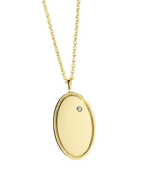 CHARME Brass Geometric Minimalist Necklace 4
