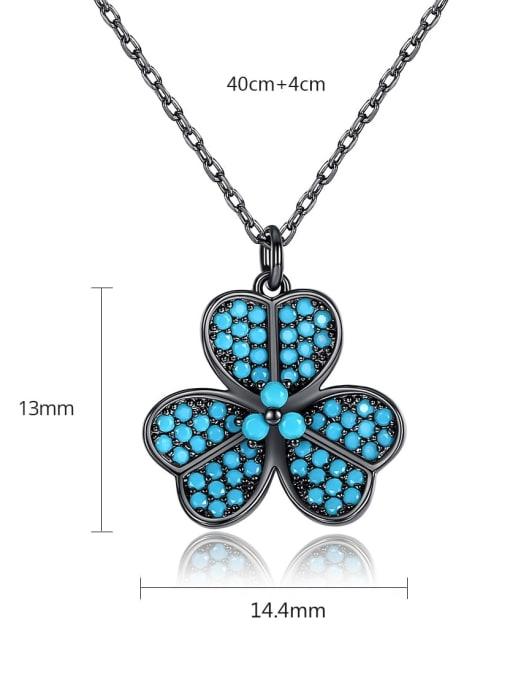 BLING SU Copper Cubic Zirconia Flower Dainty Necklace 2