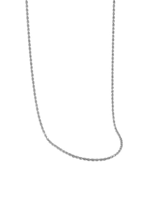 Platinum 925 Sterling Silver Round Minimalist Necklace