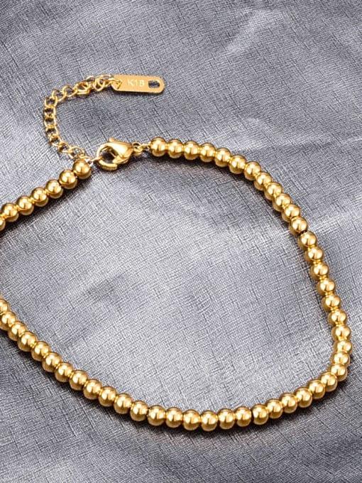 A TEEM Titanium Bead Round Minimalist Beaded Bracelet 2