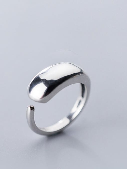 Rosh 925 Sterling Silver Smooth  Round Minimalist Band Ring 4