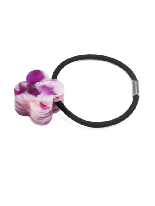 Broken flower purple Cellulose Acetate Minimalist Flower Hair Rope