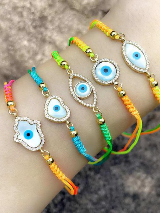 CC Brass Enamel Evil Eye Bohemia Adjustable Bracelet 1