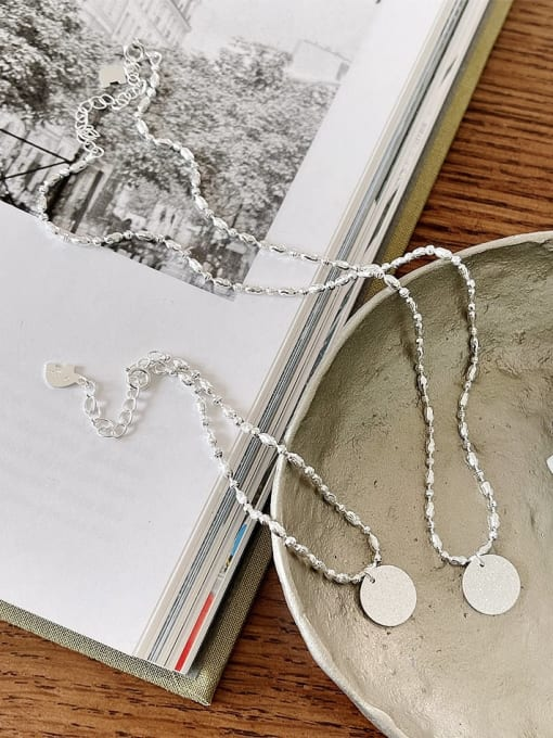 Boomer Cat 925 Sterling Silver Round Minimalist Bead Chain Necklace 1