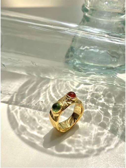 LI MUMU Brass Irregular Vintage Band Ring 3