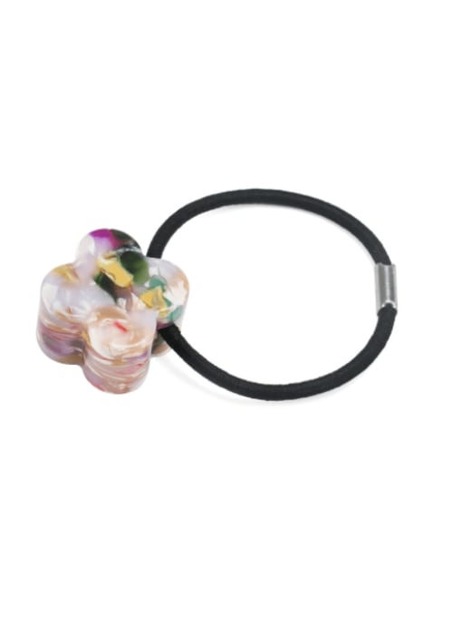 Broken flower color Cellulose Acetate Minimalist Flower Hair Rope