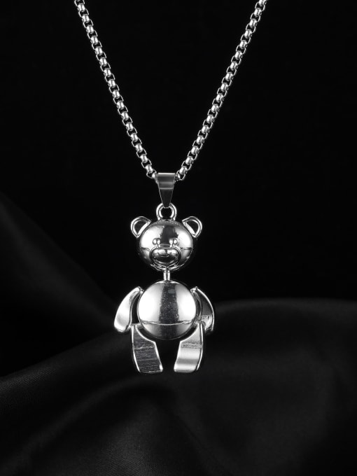 Open Sky Alloy  Hip Hop teddy bear Necklace 0