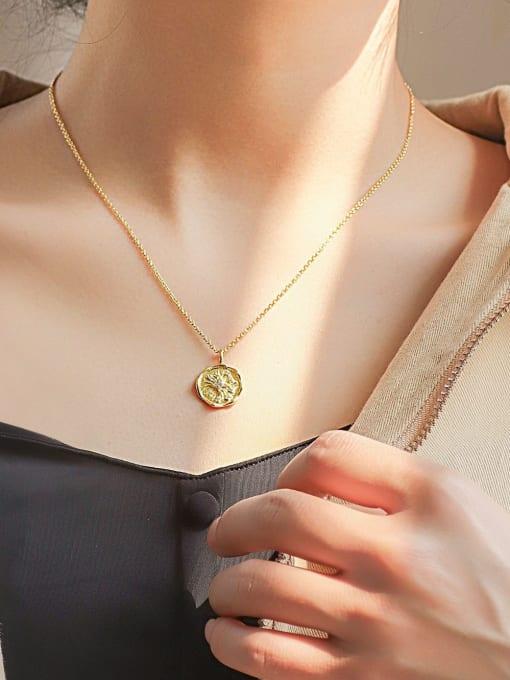 CHARME Brass Cubic Zirconia Geometric Minimalist Necklace 1
