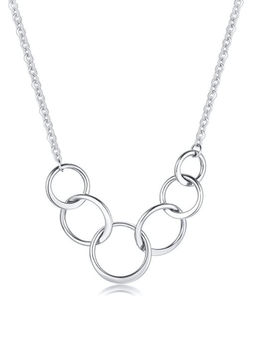 CONG Titanium Steel Geometric Minimalist Necklace 3