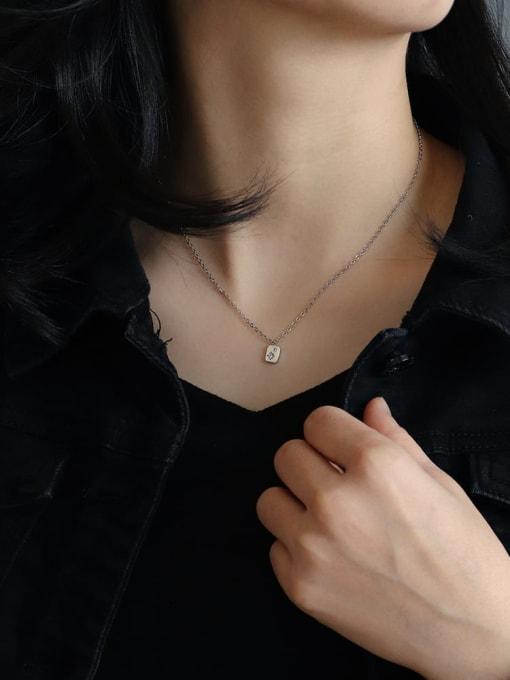 CHARME Brass Rhinestone Minimalist geometry Pendant Necklace 2