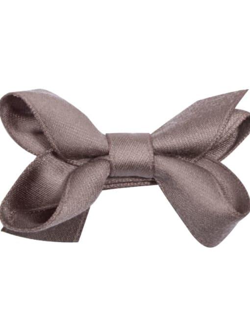 5 warm grayish brown Alloy Fabric Cute Bowknot  Multi Color Hair Barrette