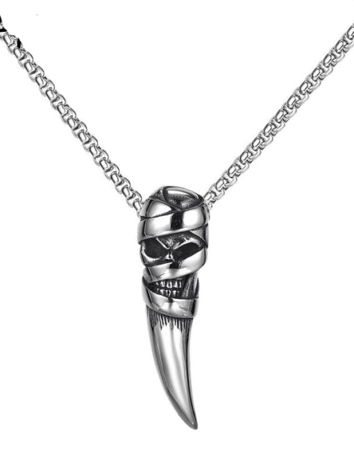 Open Sky Stainless steel Skull  Hip Hop Pendant