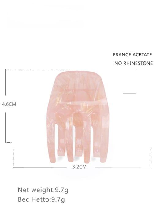 light pink Cellulose Acetate Minimalist Geometric Zinc Alloy Jaw Hair Claw