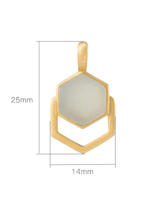 DEER 925 Sterling Silver Jade Minimalist Geometric Pendant 2