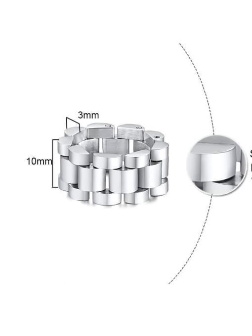 CONG Stainless steel Irregular Ethnic Band Ring 2
