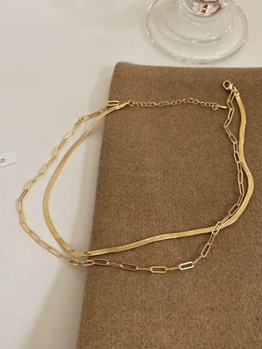 A TEEM Titanium Steel Irregular Hip Hop Multi Strand Necklace 1