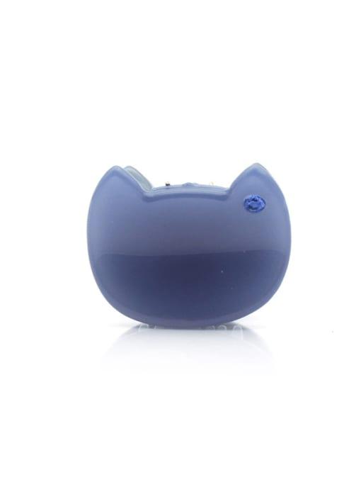 blue Cellulose Acetate Minimalist Friut Zinc Alloy Jaw Hair Claw