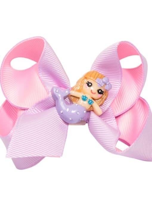 13 pink purple Mermaid Alloy  Fabric Cute Bowknot Multi Color Hair Barrette