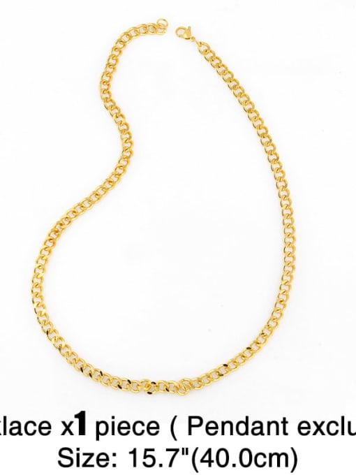 CC Brass Hollow Geometric Chain Minimalist Necklace 3