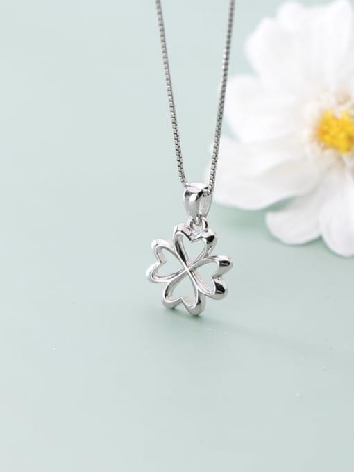 Rosh 925 Sterling Silver Flower  Minimalist Pendant 3