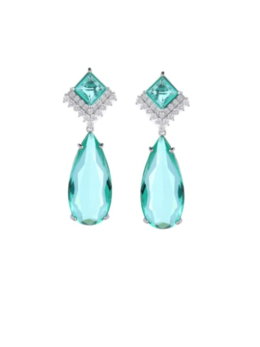 Luxu Brass Cubic Zirconia Water Drop Luxury Drop Earring 2