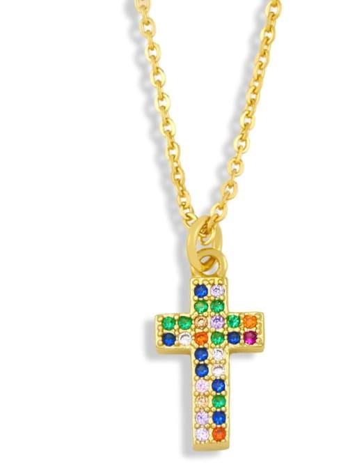 C Brass Cubic Zirconia Star Hip Hop Necklace