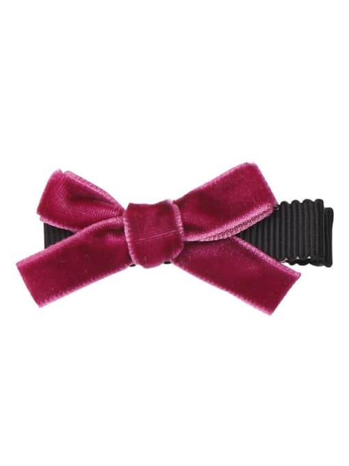 8 garnet red Alloy Fabric Cute Bowknot  Multi Color Hair Barrette