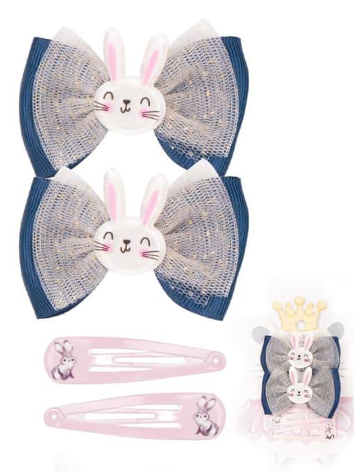 10 wonderful little rabbit suit Alloy Yarn Cute Bowknot  Multi Color Hair Barrette
