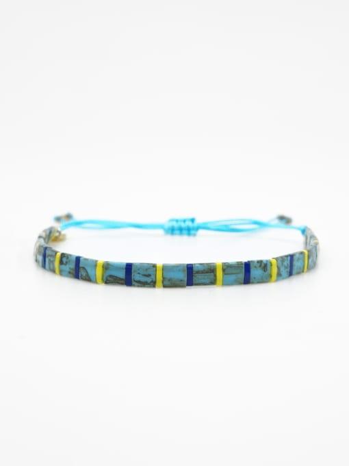 TL B190254A Stainless steel Tila Bead Multi Color Geometric Bohemia Handmade Weave Bracelet
