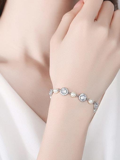 BLING SU Brass Cubic Zirconia Geometric Luxury Bracelet 1