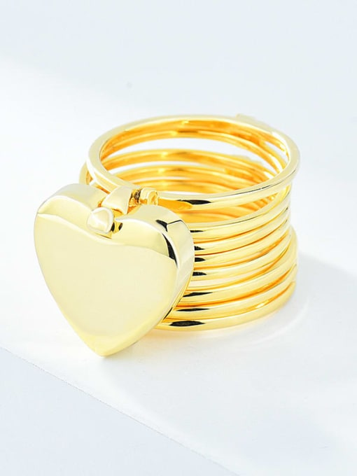 XBOX 925 Sterling Silver Heart Minimalist Stackable Ring