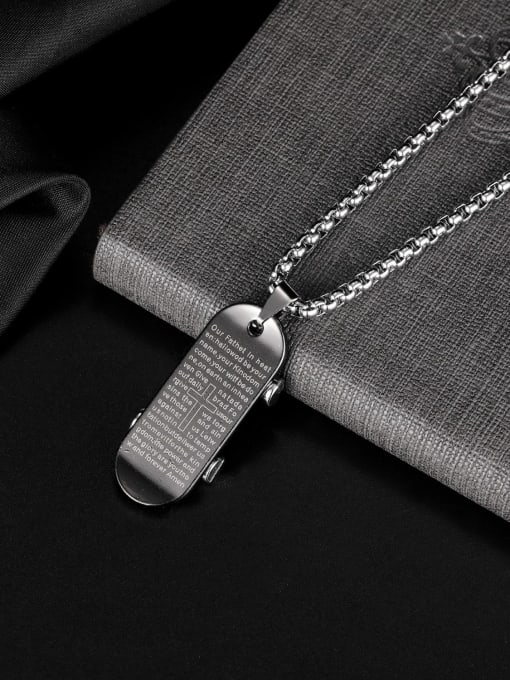 Open Sky Alloy Geometric Hip Hop Necklace 2