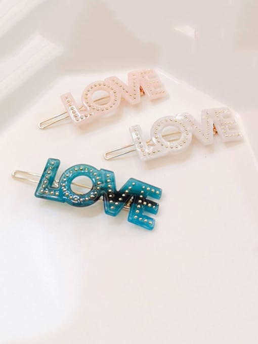 Chimera Alloy  Cellulose Acetate Minimalist Letter Hair Pin 0