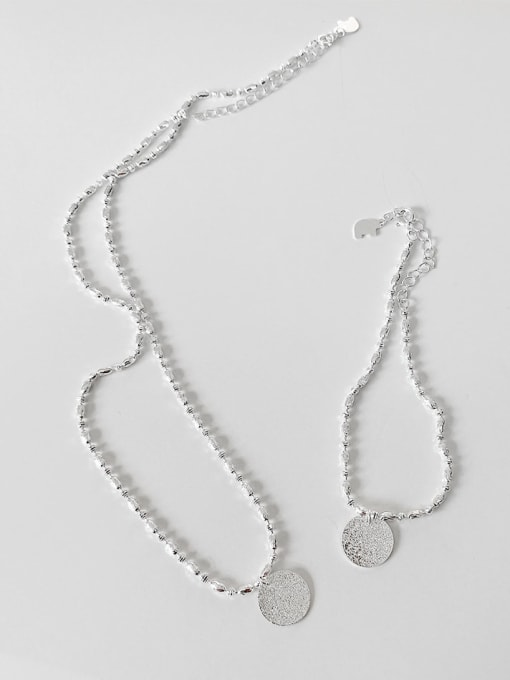 Boomer Cat 925 Sterling Silver Round Minimalist Bead Chain Necklace
