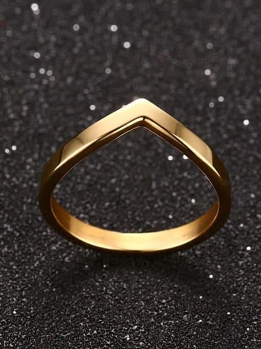 CONG Titanium Steel Geometric Minimalist Band Ring 4