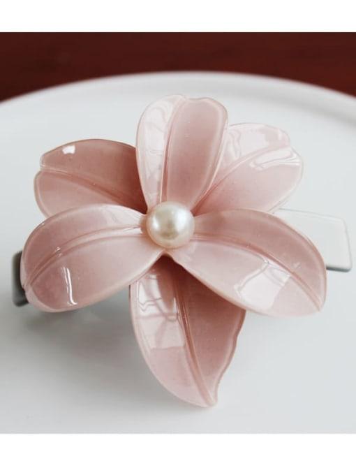 1 Cellulose Acetate Minimalist Flower Zinc Alloy Spring clip Hair Barrette