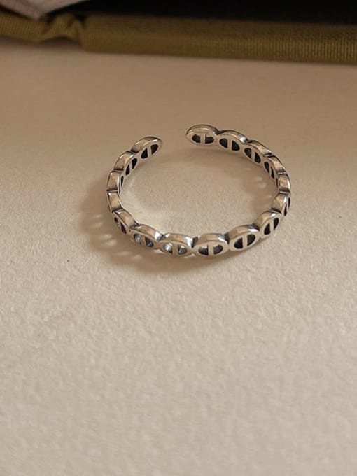 Duozhubijie 1590 925 Sterling Silver Geometric Vintage Band Ring