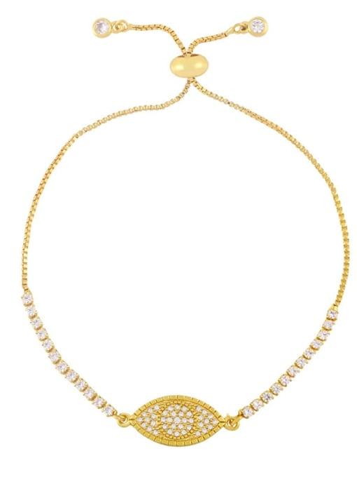 CC Brass Cubic Zirconia Butterfly Hip Hop Adjustable Bracelet