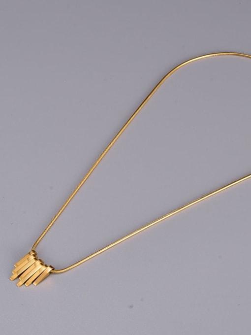 A TEEM Titanium Steel Smooth Geometric Vintage Necklace 3