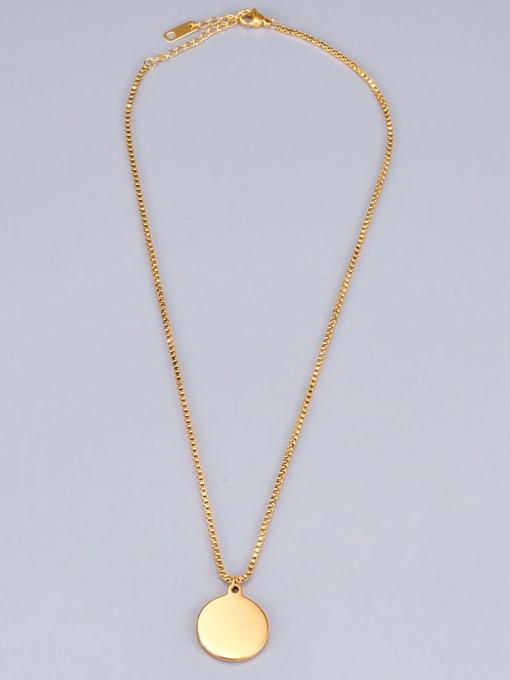 A TEEM Titanium Round tree Minimalist pendant Necklace 3