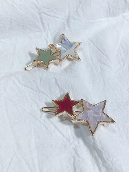Chimera Alloy Cellulose Acetate Minimalist Star  Hair Pin 1