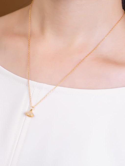 DEER 925 Sterling Silver Jade Triangle Vintage Necklace 1