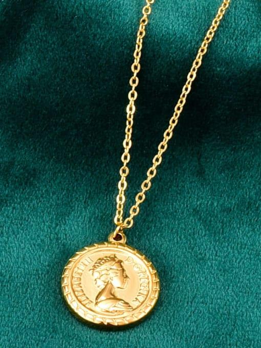 A TEEM Titanium Round Vintage pendant Necklace 3